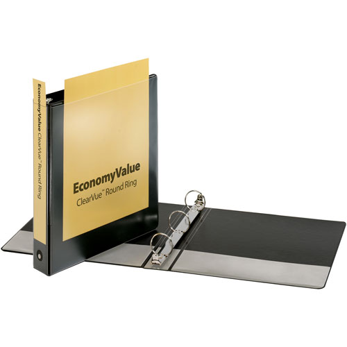 Cardinal EconomyValue ClearVue Round-Ring Binders