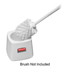 Toilet bowl brush holder, white, sold as 1 each