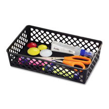 Supply basket, stackable, large, 2/pk, black, sold as 1 package