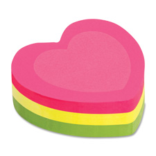 Redi-Tag Self-stick Two-tone Heart Notes