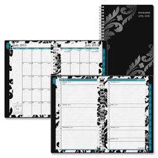 Day Runner Black Floral Weekly/monthly Planner