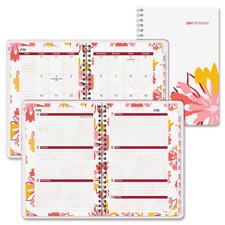 Day Runner Floral Design Desk Weekly/Monthly Plnr