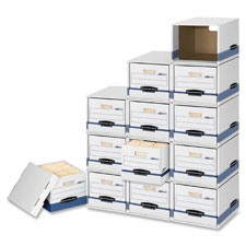 "File/cube box shell, ltr/lgl,12""x15""x10"", 6/pk, white/blue, sold as 1 carton, 12 each per carton"