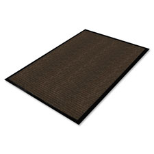 "Dual rib indoor mat, f/hard surface, 3""x5"", chocolate, sold as 1 each, 1200 package per each"