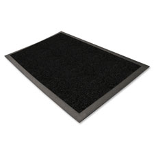 "Wiper/scraper indoor floor mat, 3""x5"", charcoal black, sold as 1 each"