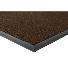 "Wiper/scraper indoor floor mat, 3""x5"", chocolate, sold as 1 each"