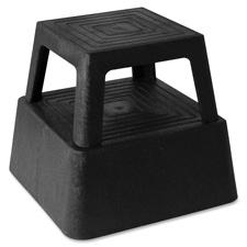 """Step stool, anti-skid, square,14-1/4""""x14-1/4""""x13"""", black, sold as 1 each, 12 each per each"""