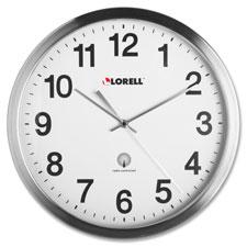 "Atomic wall clock, 11-3/4"", chrome, sold as 1 each"