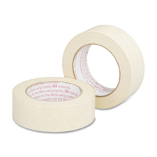 "Masking tape, utility grade, 1-1/2""x60yds, beige, sold as 1 roll"