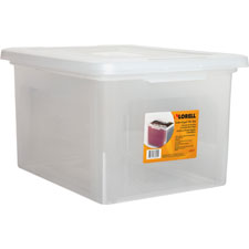 "File box, legal/letter, stackable, 14-1/4""x18""x11"", clear, sold as 1 each"