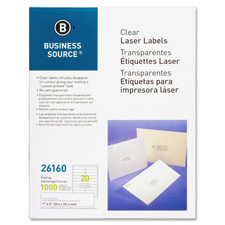 "Laser labels, mailing, 1""x4"", 1000/bx, clear, sold as 1 package, 2000 each per package"