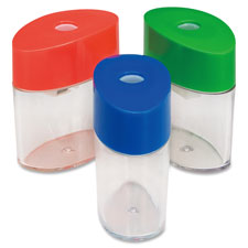 "Plastic sharpener, oval, 2-1/8"", assorted, sold as 1 each"