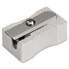 Aluminum pocket sharpener, steel, silver, sold as 1 each