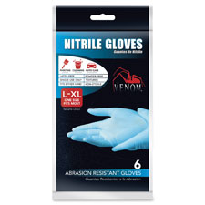 Disposable gloves, nitrile, latex-free, l/xl, 6/pk, blue, sold as 1 package, 12 each per package