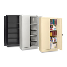 "Storage cabinet, standard, 36""x24""x72"", black, sold as 1 each"