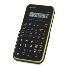 "Scientific calculator,10-dig,131-func,3-1/4""x6""x1/2"",bk/gn, sold as 1 each"