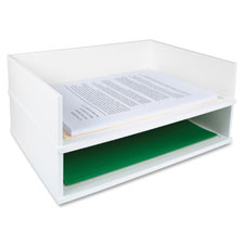 "Stacking letter tray, side,13""x10-9/16""x3-1/4"", midnight bk, sold as 1 each"
