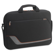 "Laptop slim briefcase, 16""x2""x12-1/4"", black, sold as 1 each"