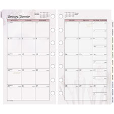 "Monthly planner refill,jan-dec,6ph,2ppm,6-3/4""x3-3/4"",design, sold as 1 each"