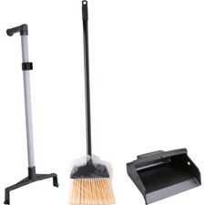 Lobby dust pan combo kit, 2-way handle, black, sold as 1 kit, 12 each per kit