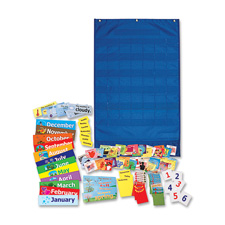 "Calendar/wheather pocket chart, 23-3/4""x38"", blue, sold as 1 each"