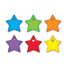 "Accents, star smiles classic, 5-1/2"" tall, 36/pk, multi, sold as 1 package"