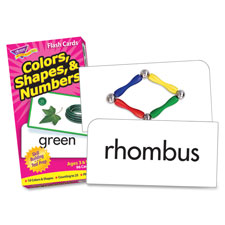 Flash cards, skill drill, colors/shapes/numbers, 96 cards, sold as 1 set