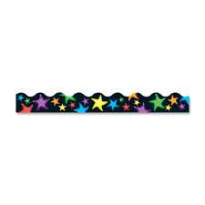 "Trimmers, gel stars, 2-1/4""x39', multi, sold as 1 package, 12 each per package"