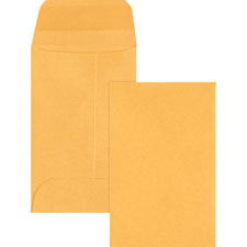 "Coin envelopes, no.3, 20lb., 500/bx, 2-1/2""x4-1/4"", kraft, sold as 1 box, 500 each per box"