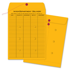 "Inter-dept envelopes,str/button,32lb, 10""x15"", 100/bx, bkft, sold as 1 box, 100 each per box"