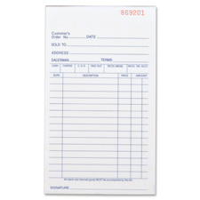 "Carbonless book,all-purpose,2prt,4-4/8""x7"",50bk/pk,we/ca, sold as 1 each"