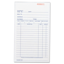 "Carbonless book,all-purpose,3-part,5-1/2""x8-1/2"",50/bk,we, sold as 1 each"