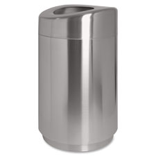 Genuine Joe Waste Receptacle, Curved Top, 30 Gal., Black at Sears.com