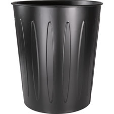 "Metal wastebasket, fire-safe, 13""dx14""h, black, sold as 1 each"