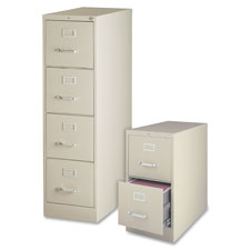 "4-drawer vertical file, w/ lock, 15""x26-1/2""x52"", putty, sold as 1 each"