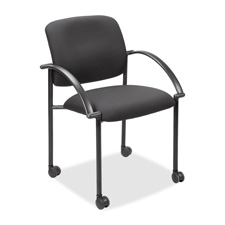 """Stackable guest chair, w/ arms, 23-1/2""""x23-1/2""""x33"""", black, sold as 1 carton"""