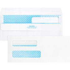 "Dbl window envelopes,no. 8-5/8"", 3-5/8""x8-5/8"", 500/bx, we, sold as 1 box, 100 each per box"