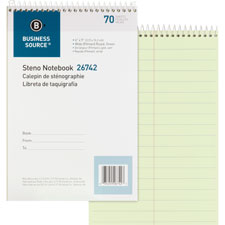 "Steno notebooks, pitman ruled, 6""x9"", 70 shts, green, sold as 1 each"