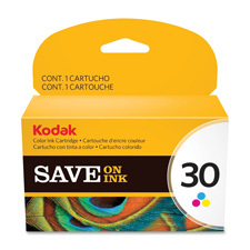 Kodak ink cartridge, no. 30, 275 page yield, tri-color, sold as 1 each