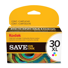 Kodak ink cartridge, no. 30xl, 550 page yield, tri-color, sold as 1 each