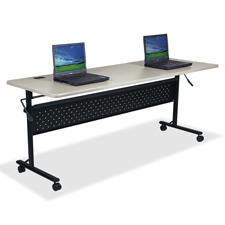 "Flipper table, 60""x24""x29-1/2"", light gray, sold as 1 each"
