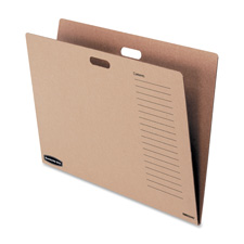 "Bulletin board folders, 27-1/2""x1/8""x1/-1/2"", kraft, sold as 1 each"