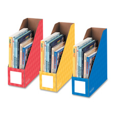 "Magazine file holders, ltr, 4""x11""x12-1/4"", 3/pk, ast, sold as 1 package"