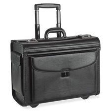 "Rolling laptop catalog case, 18""x9""x14"", black, sold as 1 each"