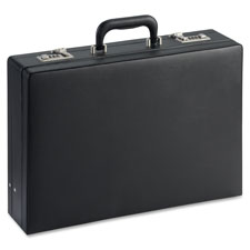 "Expandable attache case, 17-1/2""x4""x12-1/2"", black, sold as 1 each"