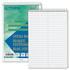 "Steno book, gregg rule, 80 sheets/pd, 6""x9"", 12/pk, white, sold as 1 package"