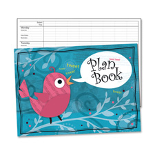 "Plan book, 13""x9-1/4"", multi-color, sold as 1 each"