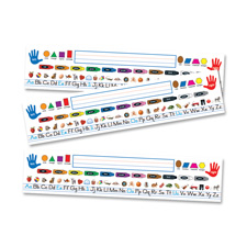 "Quick stick nameplate, 18""x4"", 30/pk, multi-color, sold as 1 package"
