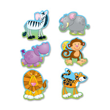 "Die-cut shapes, ""jungle animals"", 36/pk, multi-color, sold as 1 package, 36 each per package"