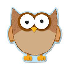"""Die-cut shapes, """"owl"""", 36/pk, multi-color, sold as 1 package, 36 each per package"""
